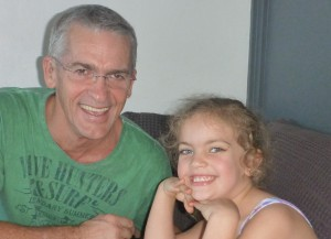 My granddaughter Maddie and I