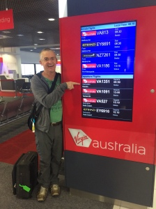 Dad ready for his flight